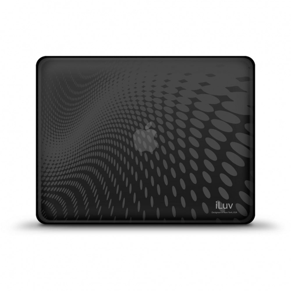 iLuv Black Flexi-Clear Case with Dot Wave Pattern for iPad