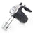 5-Speed 150-Watt Hand Mixer Black w/ Silver Accents