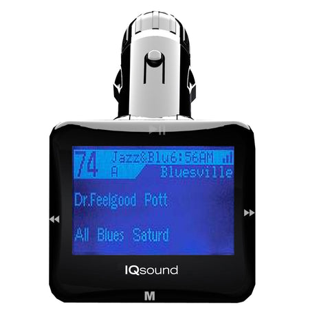 Supersonic Wireless Fm Transmitter With 1.4 in Black