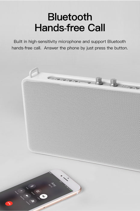 Exclusive GGMM App Wireless Intelligent WiFi + Bluetooth 4.0 Voice Control Speaker-White