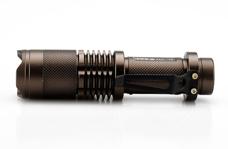 CREE XML T6 Mini LED Flashlight - For Camping + Fishing, 1200 Lumens, Weatherproof, 5 Modes