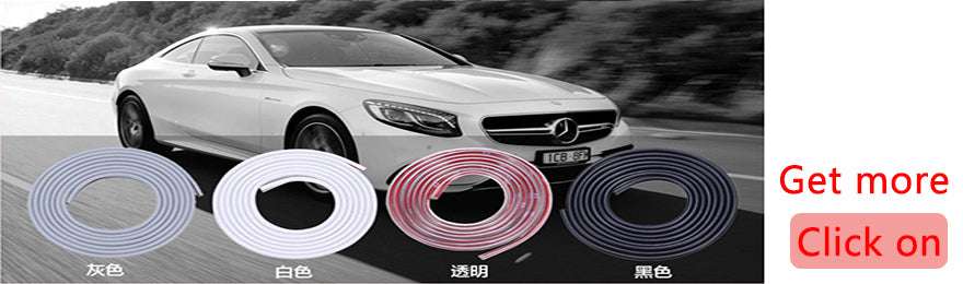 5M/8M/10M Car Door Edge Trim Rubber Seal Protector Guard Strip Moulding Rubber Scratch Protector Strip for Cars