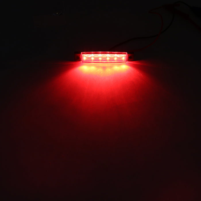 "3.8"" 6 LED Bright Side Marker Indicators Clearance Lamp Light for Truck Trailer Lorry"