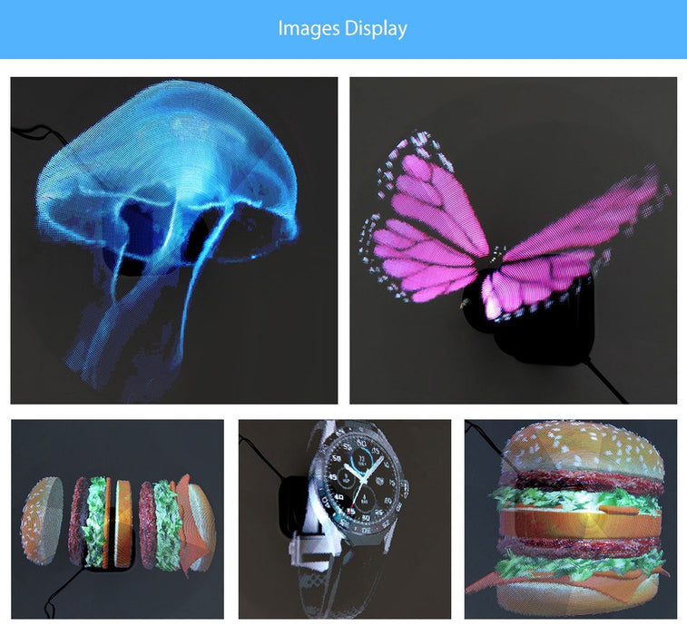 US Plug LED Holographic Projector Hologram Player 3D Holographic Display Fan Unique Hologram Projector Advisement Player