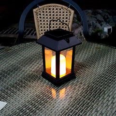 Image of Solar Lantern - 5 Lumen,  IP44 Rating, 600mAh Battery, Candle Effect, Intelligent Light Control, Amorphous Silicon Solar Panel
