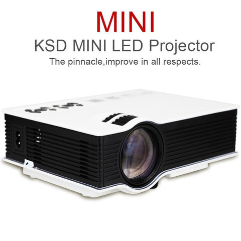 LED Projectors TFT LCD Projector - 3200 Lumen, 34 To 130 Inch Projections, NAtive Resolution 800x480, AV, HDMI, VGA, USB, Micro SD Card