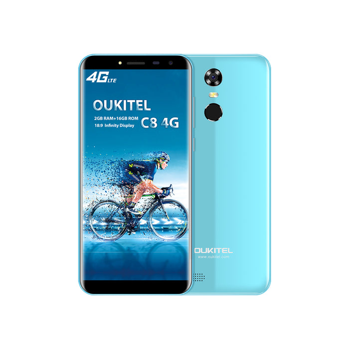 OUKITEL C8 5.5 Inch MT6737 Android 7.0 4G Smart Phone (Blue)