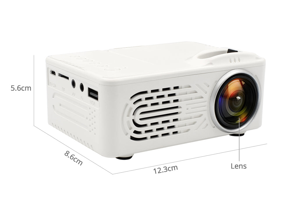 Mini Projector LCD LED Portable Projector-White AU Plug