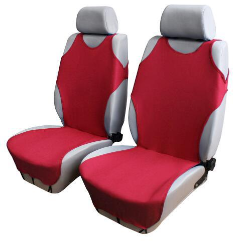 Car Front Breathable Seat Covers for 5 Seat SUV Universal Application 4 Seasons Available (Red)