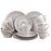 Elama Malibu Sands 16-Piece Dinnerware Set in Shell