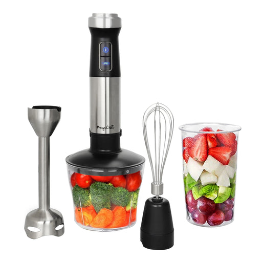 Megachef 4 in 1 Multipurpose Immersion Hand Blender With Speed Control and Accessories