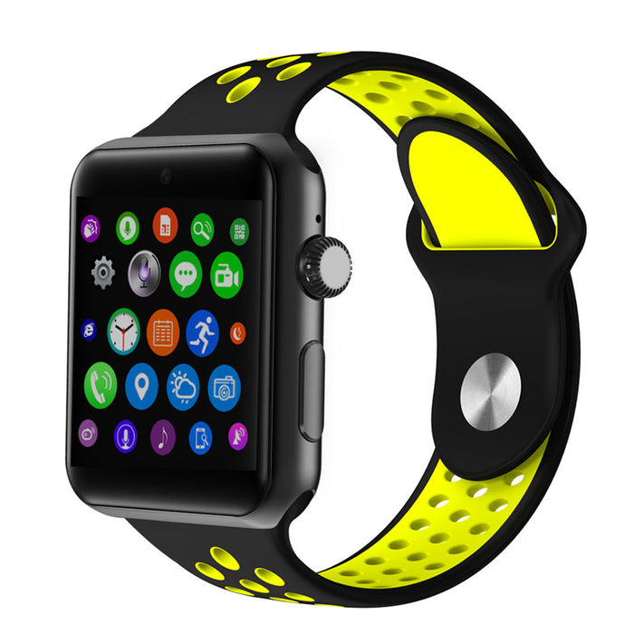 DM09 Plus Smart Watch Phone - 1 IMEI, Pedometer, Calls, SMS, Social Media Notifications, Bluetooth 4.0 (Black + Yellow)