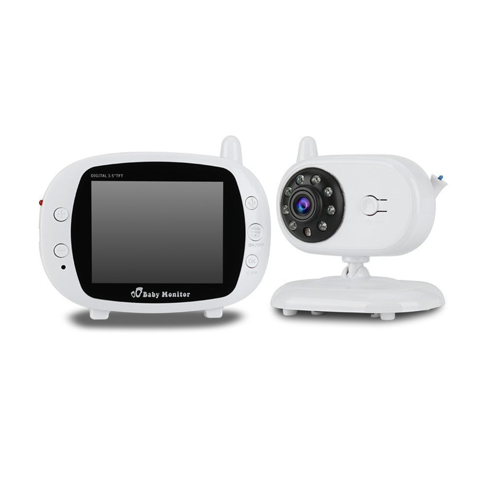 AU 3.5 inch LCD Screen Wireless Digital Baby Monitor Two Way Audio Video Baby Monitor Night Vision Lullaby Camera