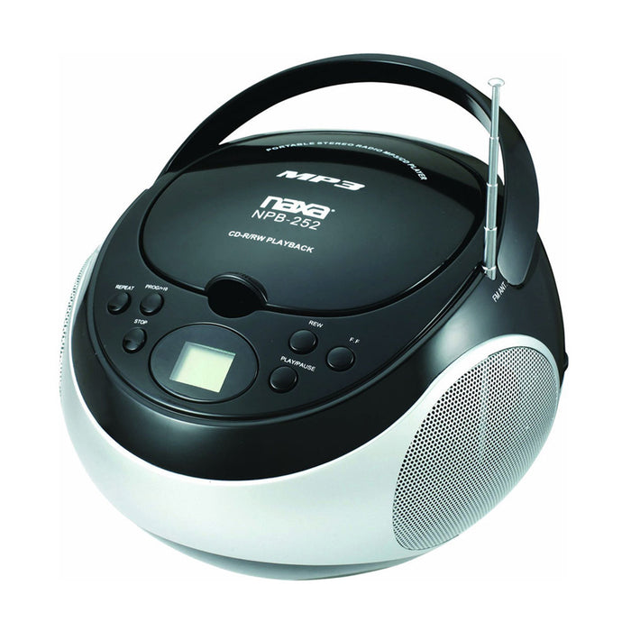 Naxa Portable CD Player with AM/FM Stereo Radio- Black