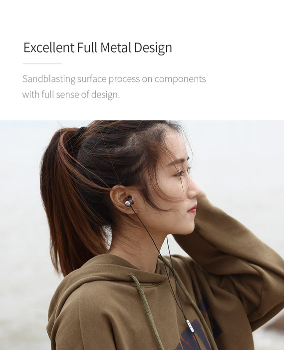 GGMM Fashion Metal In-ear Earphones Stereo Noise Cancelling Silver Headset