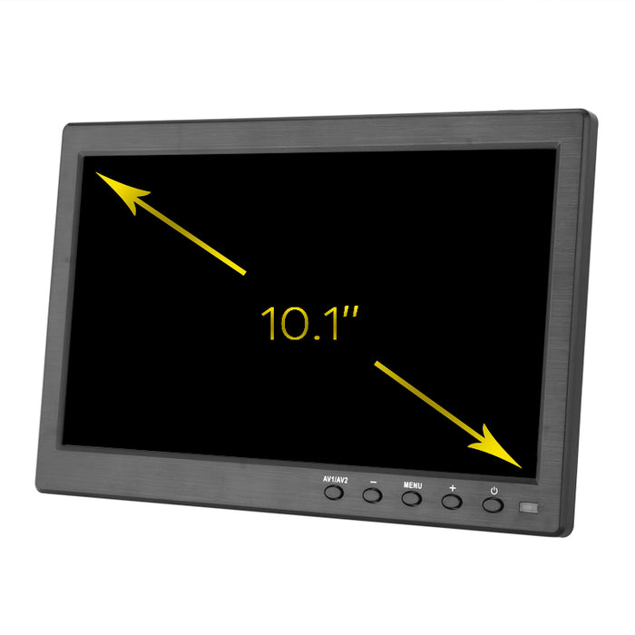 10.1 Inch TFT LCD Display - 1280x800 Native Resolution, LED Back Light, Built-in Speaker, HDMI, VGA, BNC, USB