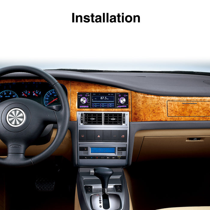 "4.1"" Car Stereo Car Radio Autoradio 12V Bluetooth FM Aux Input Receiver In-dash SD USB MP3 WMA APP Car Radio Player"