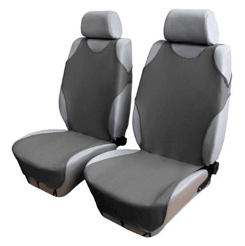 Car Front Breathable Seat Covers for 5 Seat SUV Universal Application 4 Seasons Available (Gray)