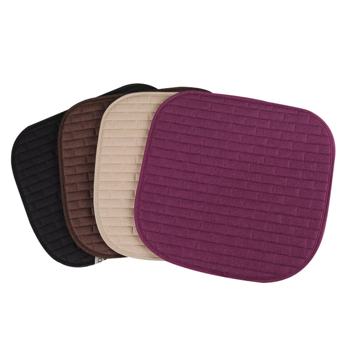Breathable Flax Car Front Seat Cushion Car Interior Seat Cover Cushion Pad for Auto Supplies Purple