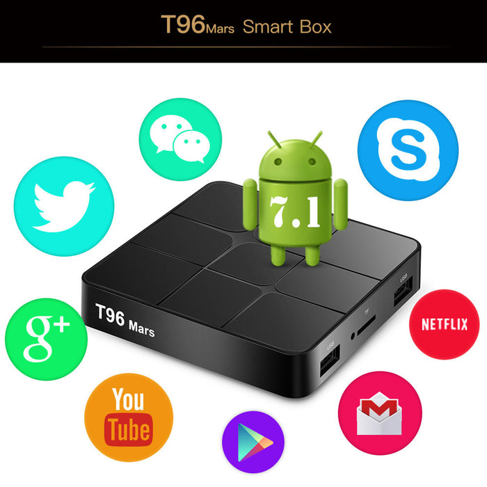 Smart Android TV Box Android 7.1 RK3229 Quad Core 4K 2GB/16GB HD Media Player TV Box BR