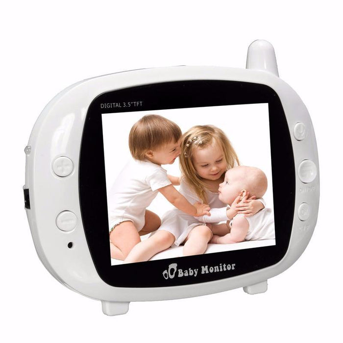 3.5 inch LCD Screen Wireless Digital Baby Monitor Two Way Audio Video Baby Monitor Night Vision Lullaby Camera