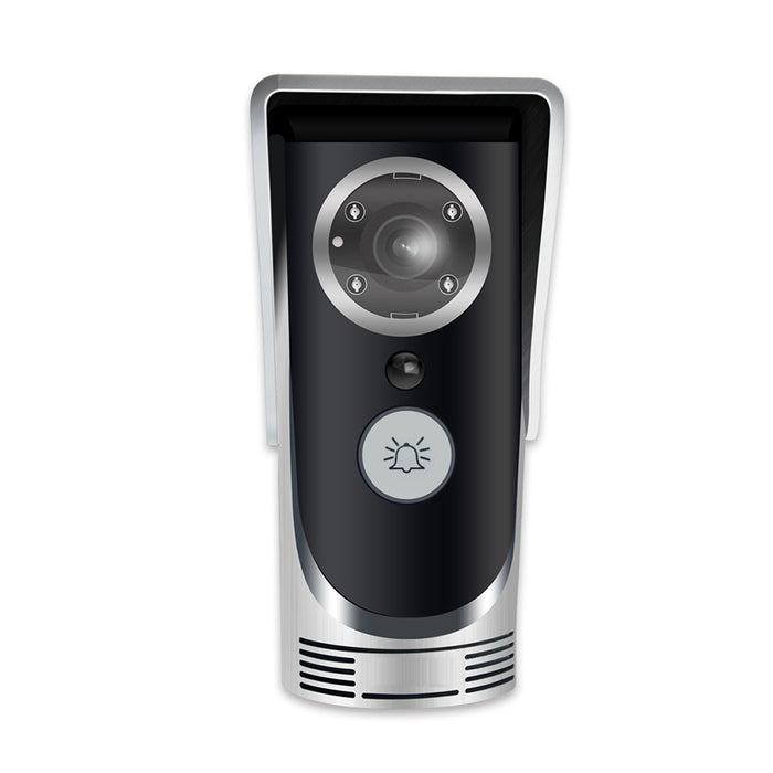 Wifi Video Audio Camera Door Bell Phone Wireless Doorbell Intercom for Android IOS Sliver UK Plug