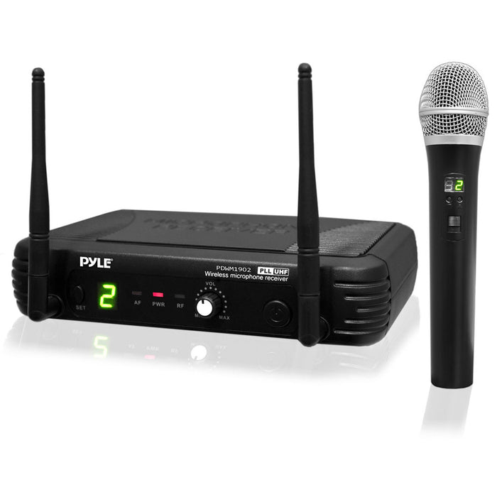 Pyle Premier Series Professional UHF Wireless Handheld Microphone System with Selectable Frequencies
