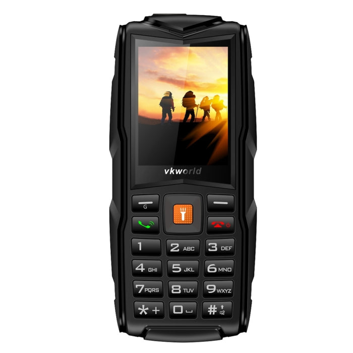 VKWorld New Stone V3 GSM Cell Phone - 3GSM SIM, IP68, Shock Proof, Powerbank, Flashlight, FM Radio, Rear Camera (Black)