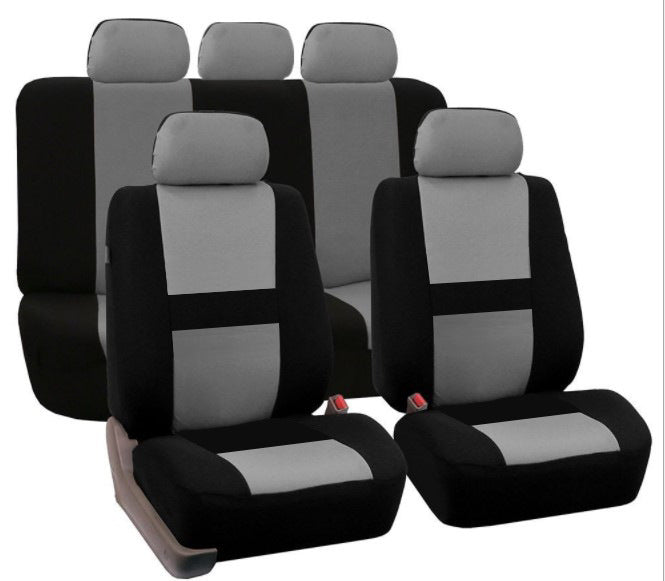Gray 9Pcs Car Seat Covers Set for 5 Seat Car Universal Application