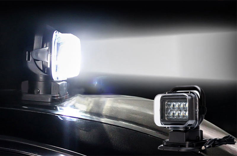 Car LED Search Light - 7 Inch, 50W, 3200 Lumens, 10x 5W Cree XTE LEDs, IP65 Splash Proof, 360 Degree Rotation