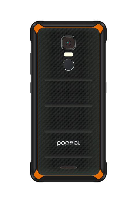 POPTEL P10 5.5 Inch 4 + 64 GB IP68 Tri-proof Smart Phone_Orange