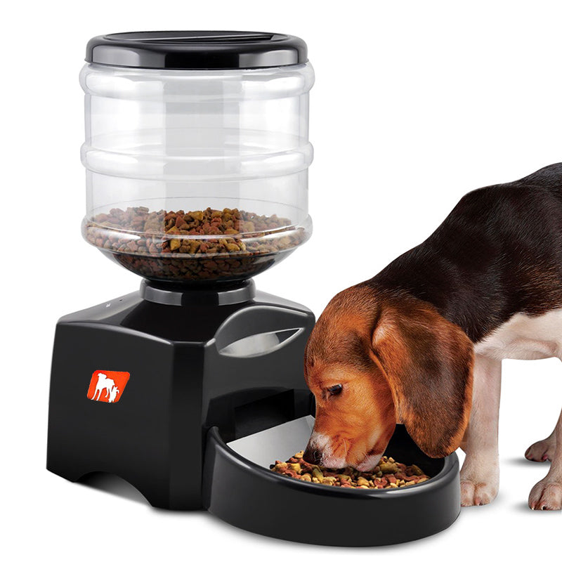 Automatic Pet Feeder - 5L Tank, Supports Dry Food, Select Serving Size, Voice Recording, 3 Meals Per Day