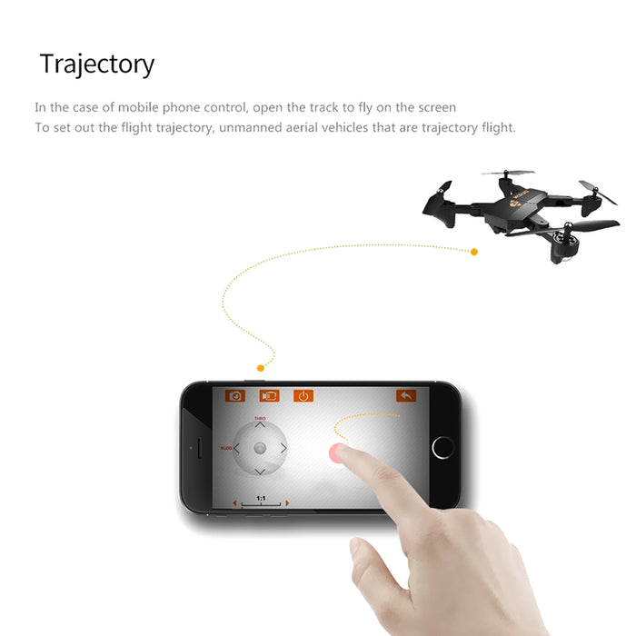 XS809W Foldable Drone - 2MP Camera, WiFi, Headless Mode, 3D Stunts, 3 Fight Speeds, 6 Axis Gyro, 100m Range, Remote Control