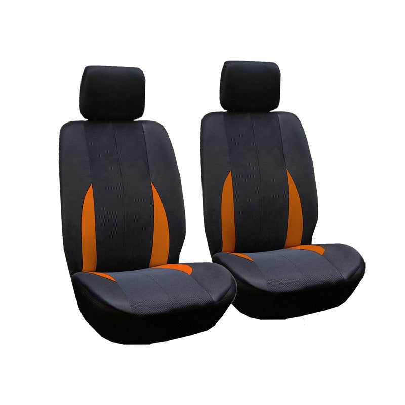 2pcs/Set Car Front Breathable Seat Covers Universal Application 4 Seasons Available Orange color