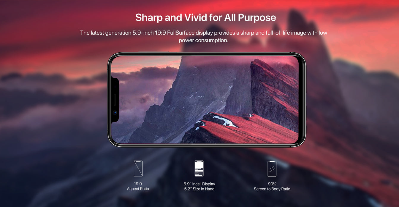 "Black UMIDIGI One Pro Global Band 5.9"" Android 8.1 Mobile Phone Wireless Charge 4GB RAM+64GB ROM P23 Octa Core 12MP+5MP Dual 4G"