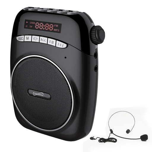 Supersonic Portable PA System With USB and Micto SD Card Slot-Black