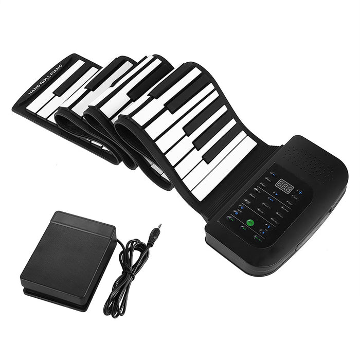 88 Key Rollup Piano Keyboard - 1000mAh Battery, Sustain Peddle, 140 Tones, 128 Rhythms, 30 Demo Songs