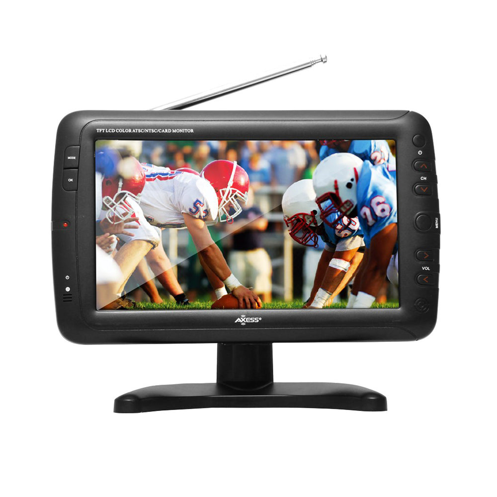 "9"" Portable TV ATSC with Rechargeable Battery"