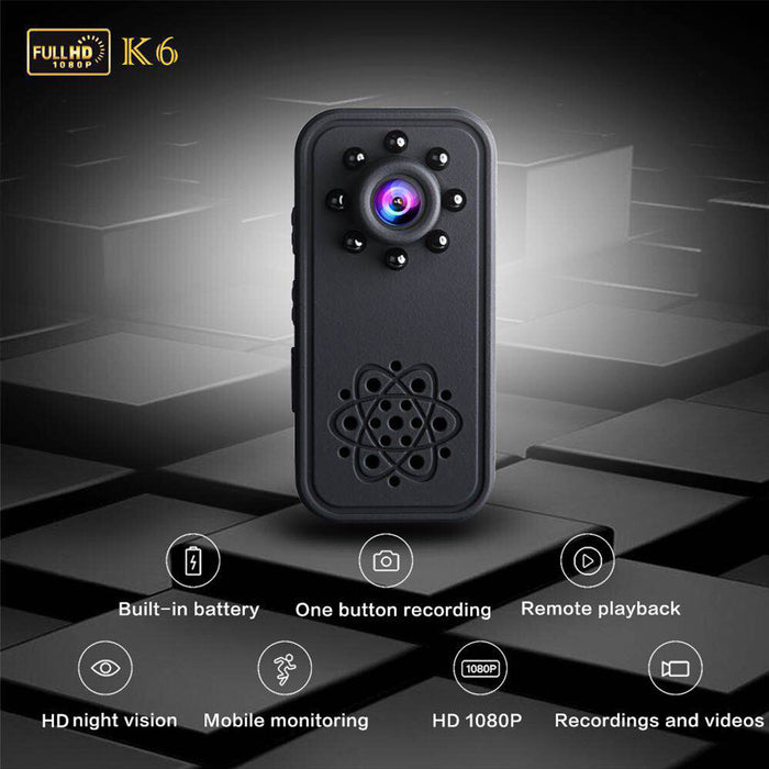 1080P HD Mini Camera Video Recorder Nanny Cam with Night Vision