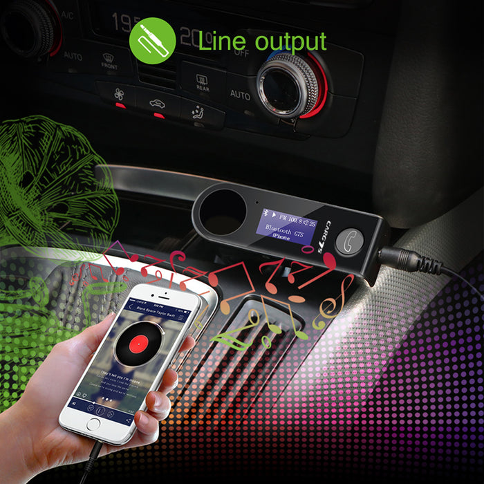 Bluetooth Car FM Transmitter G7S - Noise Reduction, Call Echo Cancellation, LED Display, EDR, A2DP (Black)