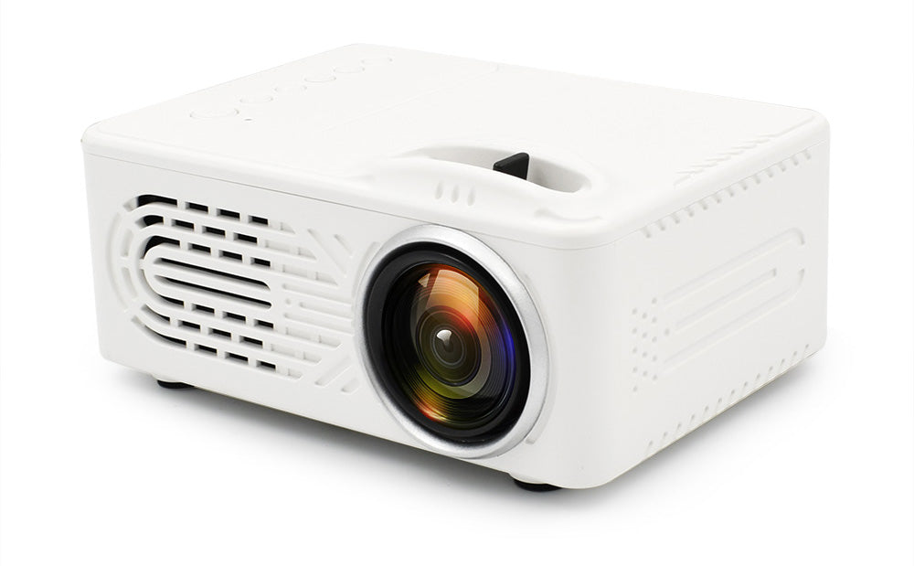 Mini Projector LCD LED Portable Projector-White US Plug