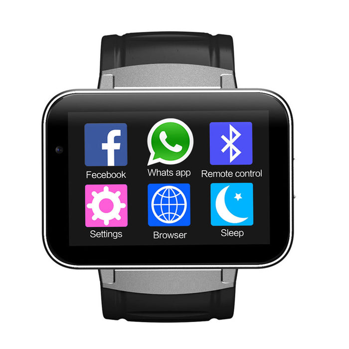 DM98 Watch Phone - 1 IMEI, Bluit-In Mic, Speakers, Bluetooth 4.0, Android OS, WiFi, 3G Support, 1.3MP Cam, Google Play (Silver)