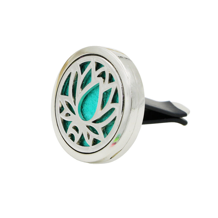 Lotus Pattern Car Styling Outlet Perfume Clips Vent Air Freshener Purifier Perfume Essential Oil Diffuser