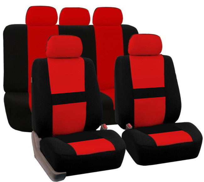 Red 9Pcs Car Seat Covers Set for 5 Seat Car Universal Application 4 Seasons Available