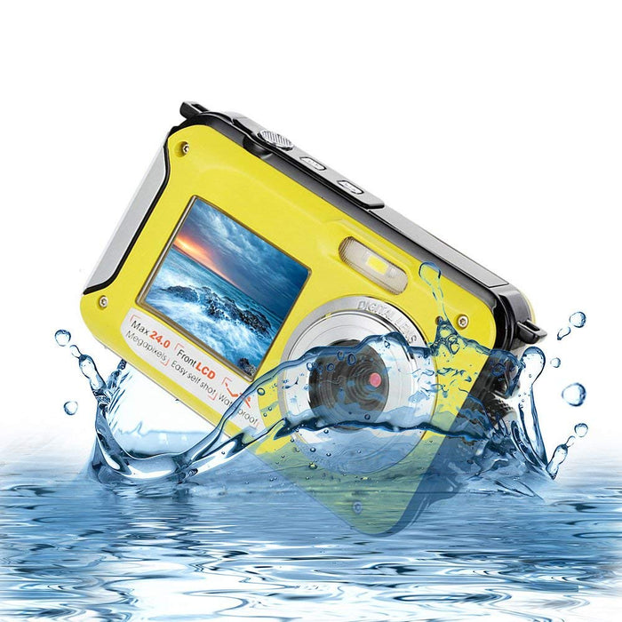 Yellow 1080P Full HD Waterproof Digital Camera Underwater Camera