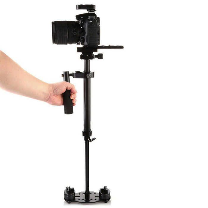 S40 Handheld Camera Stabilizer - Aluminum Alloy, Sprit level, Adjustable Mounts + Counter Weights, Length 23 To 40 CM