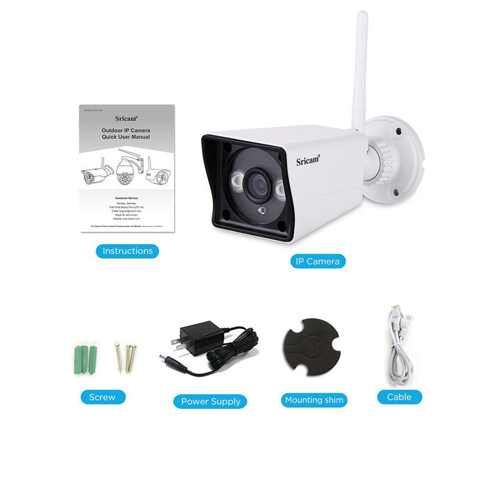 EU Sricam SP023 Home Security IP Camera Wireless Smart WIFI Camera Audio Record Baby Monitor