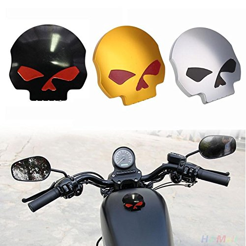 Cool Motorcycle CNC Aluminum Skull Eye Fuel Gas Oil Tank Cap for Harley Davidson