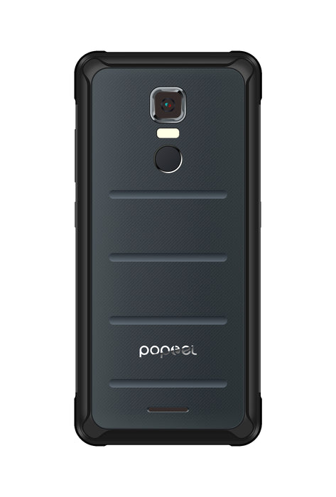 POPTEL P10 5.5 Inch 4 + 64 GB IP68 Tri-proof Smart Phone_Black Grey