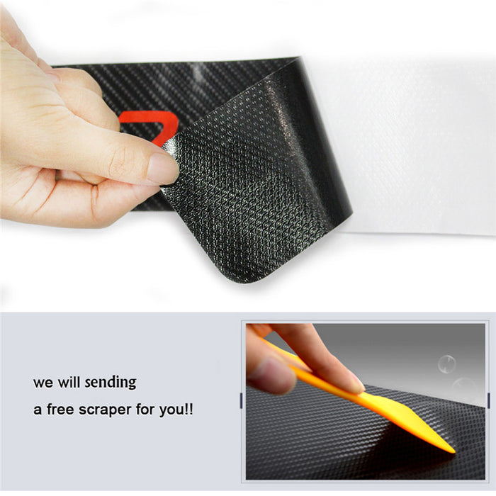 Sedan Hatchback Car Door Sill Scuff Pedal Car Door Plate Car Sticker Protective Accessories